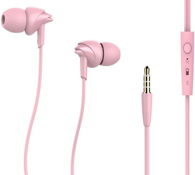 Digifreaks Perfumed Universal 2 In 1 Wired Headset with Mic(Pink, In the Ear)