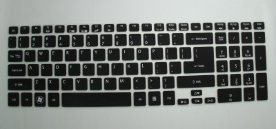 Saco Chiclet Keyboard Skin for Acer AS E5 571 15.6 Inch Laptop Laptop Keyboard Skin Black
