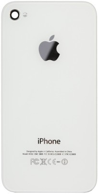 Koloredge Back Replacement Cover for Apple iPhone 4 White, Plastic