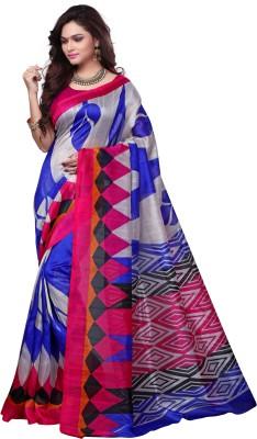 Kjs Printed Bollywood Art Silk Saree Multicolor Kjs Women's Sarees