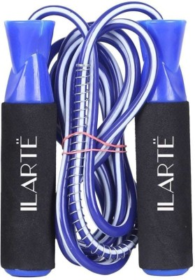 ILARTE Exclusive Gym training Skipping Rope Ball Bearing Skipping Rope(Blue, Black, Pack of 1)  available at flipkart for Rs.298