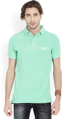 82494102 Buy Superdry Solid Men's Polo Neck Green T-Shirt on Flipkart |  PaisaWapas.com