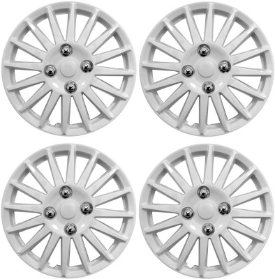 Auto Pearl Premium Quality Car Full Caps Silver 15 Inches Press Type Fitting Wheel Cover For Toyota Innova(38.1 cm)