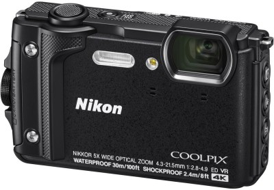 Nikon Coolpix W300(16 MP, 5X Optical Zoom, 10x Digital Zoom, Black)