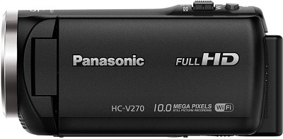View Panasonic HC-V270GW NONE Camcorder Camera(Black) Price Online(Panasonic)