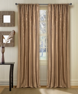 Deco Window Polyester Royal Brown Motif Window Curtain(152 cm in Height, Single Curtain) at flipkart