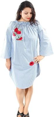 U.S. Polo Assn Women Shift Blue Dress