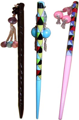 Vatsalya Creation combo of juda sticks Bun Stick(Multicolor)