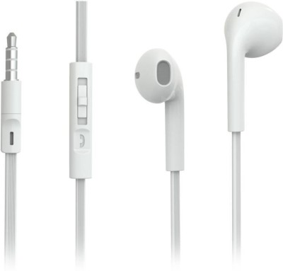gosbro SmartBuy Wired Wired Headset with Mic(White, In the Ear)