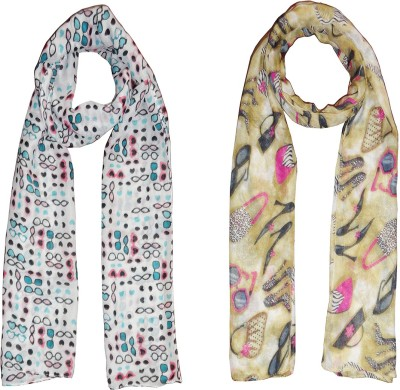 D Fashion Printed Cotton Women's Scarf, Stole
