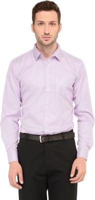 LA Seven Men's Striped Formal Slim Shirt