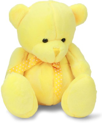 Starwalk Bear Plush With Polka Dotted Bow Yellow Colour 25 cm   25 cm Multicolor Starwalk Soft Toys