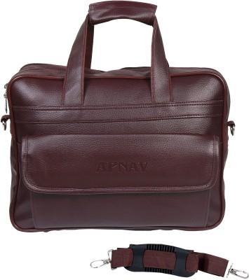Apnav 15 inch Laptop Messenger Bag Brown