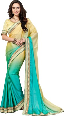 M.S.Retail Embroidered Bollywood Silk Saree(Multicolor)