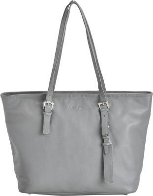 MANDAVA MND123DGRY Shoulder Bag Grey, 15 inch MANDAVA Handbags   Clutches