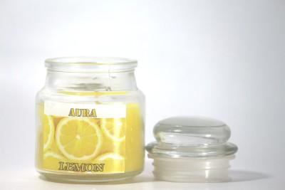 AuraDecor 2 Jar Candles Candle(White, Pack of 2)
