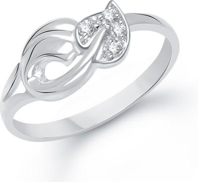 VK Jewels Alloy Cubic Zirconia Rhodium Plated Ring at flipkart