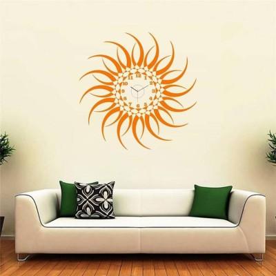 radhika enterprise Analog 30 cm X 30 cm Wall Clock(Orange, Pink, Without Glass)