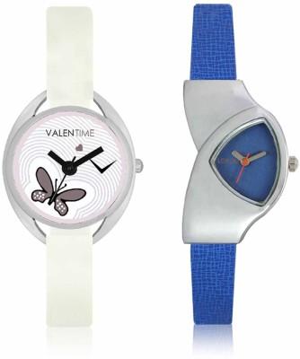 LOREM WAT-W06-0208-W07-0005-COMBOLOREMBlue::White Designer Stylish Shape Best Offer Combo Beautiful Watch - For Women