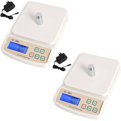 AmtiQ New Digital Electronic (Pack of 2) SF 400A with Adapter 5Kg Kitchen Weighing Scale(Off-White)  available at flipkart for Rs.968