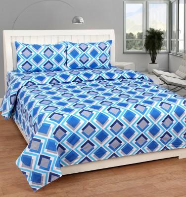 Zesture Cotton Printed Double Bedsheet(1 Double Bedsheet, 2 Pillow Covers, Multicolor) at flipkart