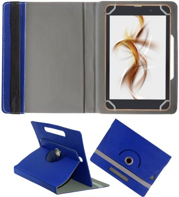 Fastway Book Cover for iBall Slide Nimble 8 inch(Blue, Cases with Holder)