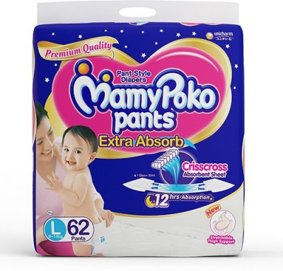Mamy Poko Pants, Large - 62 Count
