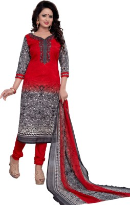 S P Marketing Cotton Printed Salwar Suit Dupatta Material(Un-stitched)  available at flipkart for Rs.549