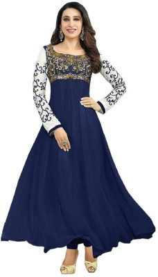 Tulsi Trendz Georgette Embroidered Salwar Suit Material(Un-stitched)