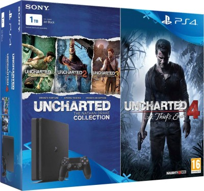Sony PlayStation 4  PS4  Slim 1 TB with Uncharted 4 and Uncharted Collection