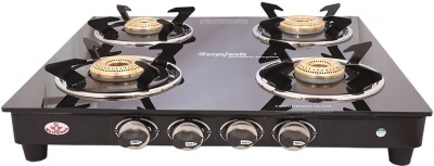 suryajwala Surya ROYALE GT04 BB 4 Burner Stainless Steel Manual Gas Stove(4 Burners)