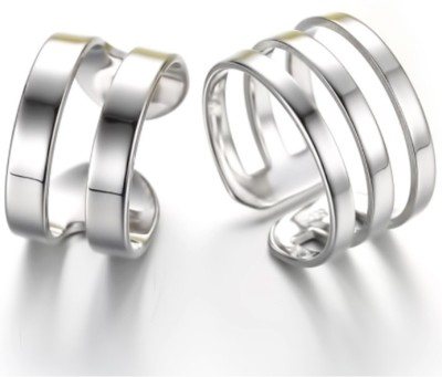 Karatcart Zinc Platinum Plated Ring Set at flipkart