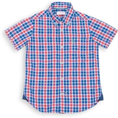 U.S. Polo Assn Boys Checkered Casual Blue Shirt