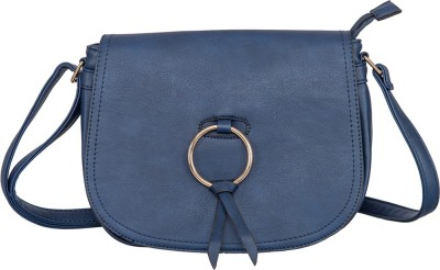 peaubella Blue Sling Bag at flipkart