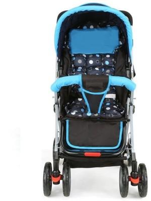 Baby Love Baby Pram With Security Bag Pram(Multi, Blue)