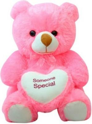 SANA TOYS Sana chubby Bear With Heart cm 20   20 cm Pink SANA TOYS Soft Toys