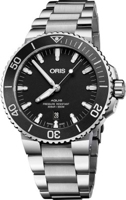 Oris 01 733 7730 4154-07 8 24 05PEB Diving Analog Watch For Men