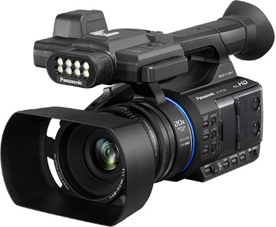 View Panasonic HC-PV100GW NONE Camcorder Camera(Black) Price Online(Panasonic)