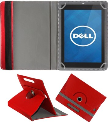 Fastway Book Cover for Dell Venue 8 Pro 5000 Tablet(Red, Cases with Holder)
