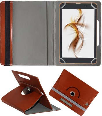 Fastway Book Cover for iBall Slide Nimble 8 inch(Brown, Cases with Holder)