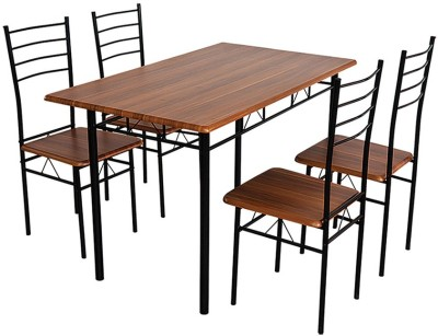 Home Edge Bayne 4 Seater Dining Set(Finish Color - Teak)
