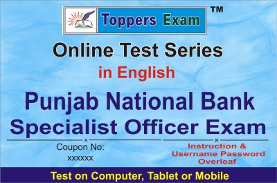 ELEARNING SOLUTIONS Punjab National Bank Specialist Officer Exam Online Test Series in English by toppersexam (Voucher)(VOUCHER)