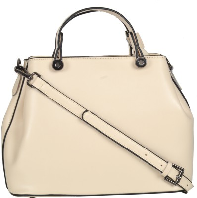 Omnesta Women Beige Satchel at flipkart