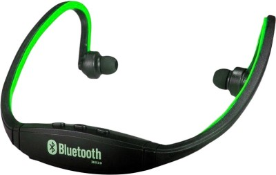A Connect Z BS-19c Good Quality sound AR Headst- 618 Bluetooth Headset with Mic(Green, In the Ear) 1