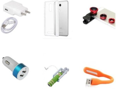Mudshi Wall Charger Accessory Combo for Samsung Galaxy On8 Multicolor