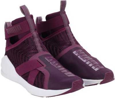 Puma Fierce Strap Swirl Wn's Training & Gym Shoes For Women(Purple) at flipkart