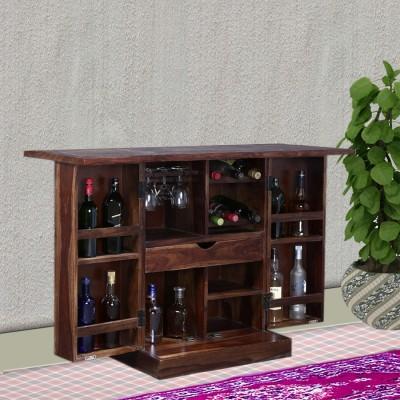 Vintej Home Solid Wood Bar Cabinet(Finish Color - Provincial Teak)