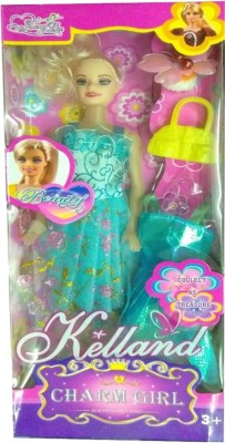 PRESENTSALE charm doll with her dress for baby kids(Multicolor)