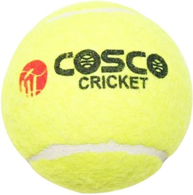 Cosco CRICKET (NORMAL/HI-BOUNCE) Cricket Tennis Ball(Pack of 1, Multicolor)  available at flipkart for Rs.314