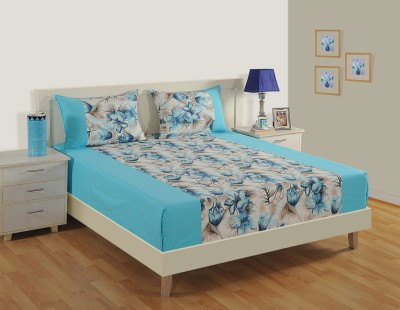Swayam 240 TC Cotton Double King Floral Bedsheet(1 Extra Large Double Bed  Sheet And